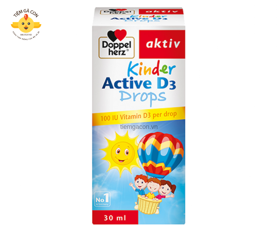 Kinder Active Drop D3  dopper herz chai 30ml TPCN